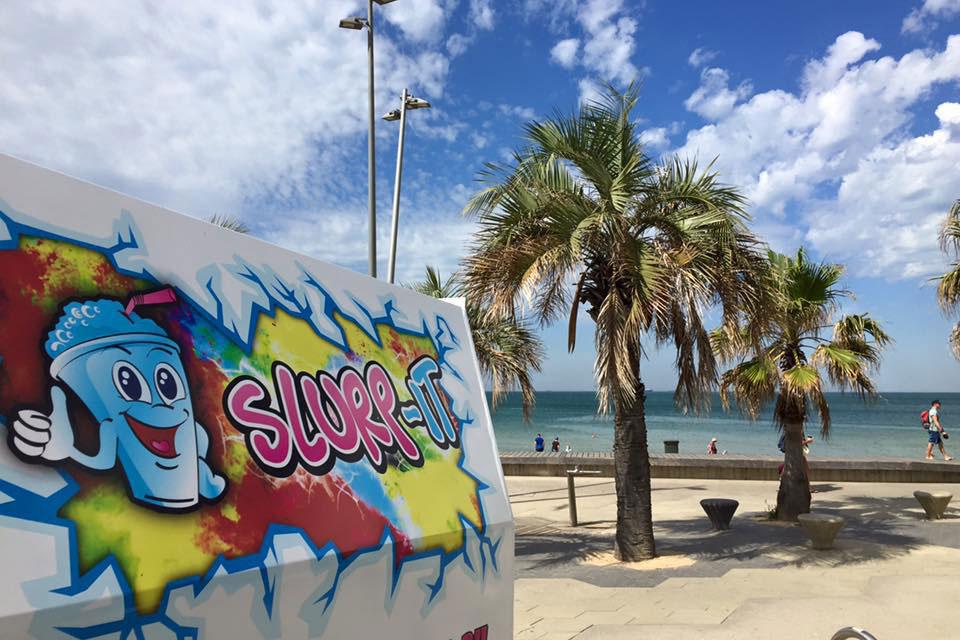 Slushie Van at the Beach